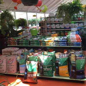 Drew's Garden offers Scott's brand lawn care products
